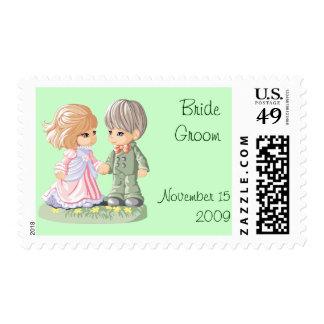 Cute Wedding Postage Template