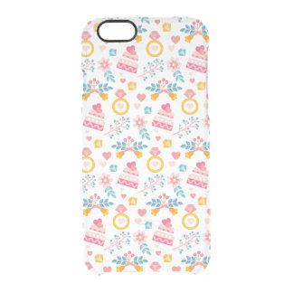 Cute Wedding Ring Cake Flowers Love iPhone 6 Clear Clear iPhone 6/6S Case