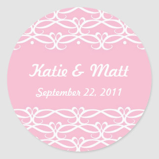 Cute Wedding Stickers in Pink