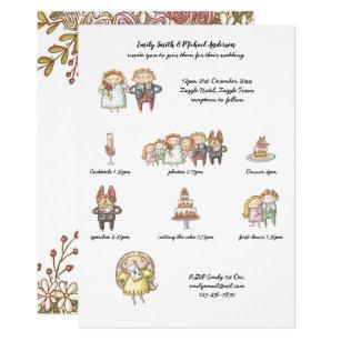 timeline wedding invitations zazzle