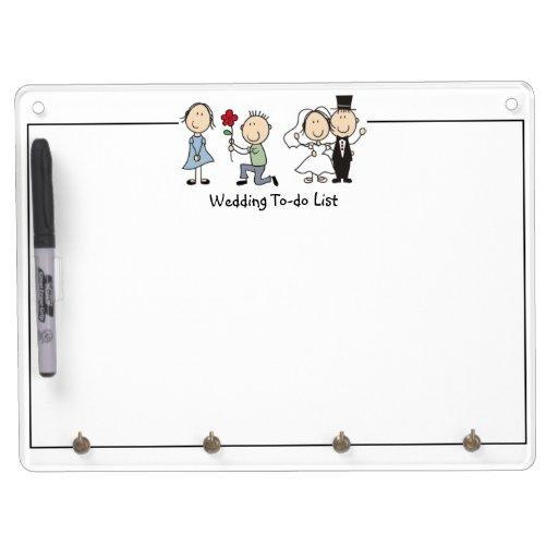Wedding To Do List: Cute Wedding To-Do List Dry Erase Board