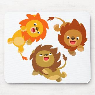 Cute Weightless Cartoon Lions Mousepad