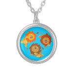Cute Weightless Cartoon Lions Necklace