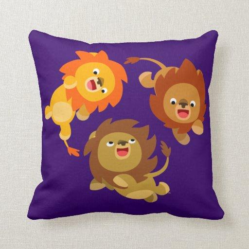 Cute Lion Pillow : Cute Weightless Cartoon Lions Pillow Zazzle