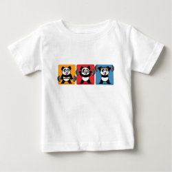Baby Fine Jersey T-Shirt with 1-2-3 Weightlifting Panda design