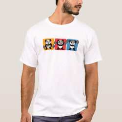 Men's Basic T-Shirt with 1-2-3 Weightlifting Panda design