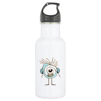 Cute Weird Caricature Illustration 18oz Water Bottle
