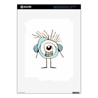 Cute Weird Caricature Illustration iPad 3 Decal