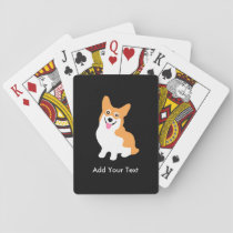 Cute Welsh Pembroke Corgi Puppy Playing Cards