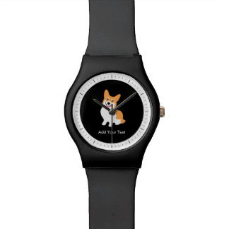 Cute Welsh Pembroke Corgi Puppy Wrist Watch