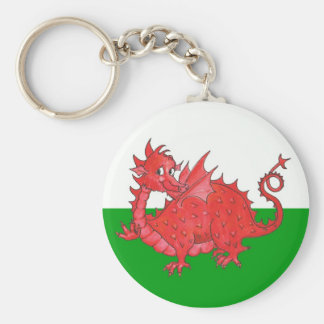 Cute Welsh Red Dragon Key Chain