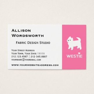 Cute West Highland Terrier - I Love Westies Business Card