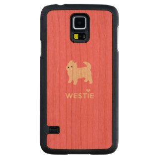Cute West Highland Terrier - I Love Westies Carved® Cherry Galaxy S5 Slim Case
