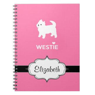 Cute West Highland Terrier - I Love Westies Spiral Note Book
