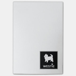Cute West Highland Terrier - I Love Westies Post-it Notes