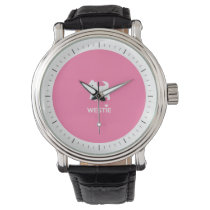 Cute West Highland Terrier - I Love Westies Wristwatch