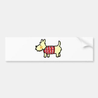 cute west highland terrier puppy car bumper sticker