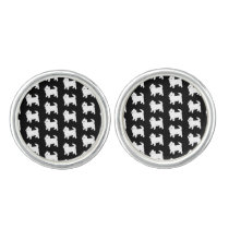 Cute West Highland Terrier - Westie Pattern Cufflinks