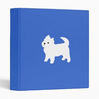 Cute West Highland Terrier White Puppy Binder