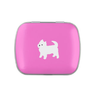 Cute West Highland Terrier White Puppy Candy Tin
