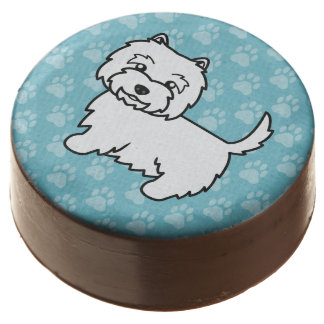 Cute West Highland White Terrier Dog Chocolate Dipped Oreo