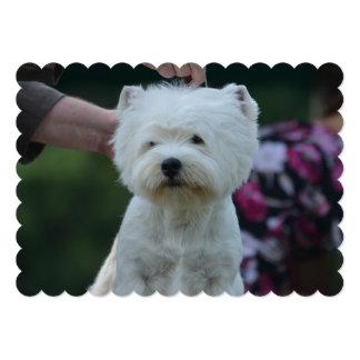 "Cute West Highland White Terrier 5"" X 7"" Invitation Card"