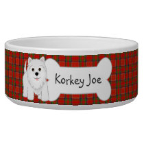Cute West Highland White Terrier Puppy Dog Bowl