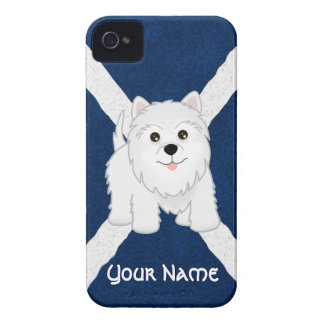 Cute West Highland White Terrier Puppy Dog Case-Mate iPhone 4 Cases