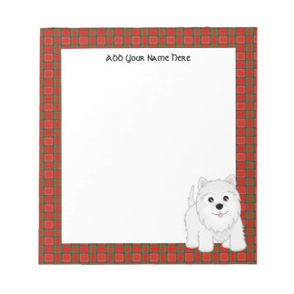 Cute West Highland White Terrier Puppy Dog Note Pad
