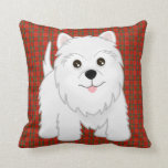 Cute West Highland White Terrier Puppy Dog Pillow