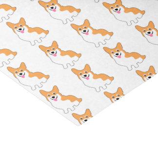"""Cute West Pembroke Corgi Pup 10"""" X 15"""" Tissue Paper"""