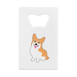 Cute West Pembroke Corgi Pup Credit Card Bottle Opener