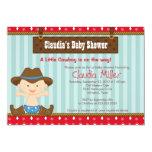 Cute Western Cowboy Baby Shower Invitation
