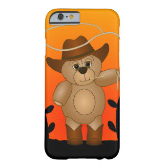 Cute Western Cowboy Teddy Bear Cartoon Mascot Barely There iPhone 6 Case