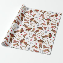Cute Western Cowboy Wrapping Paper