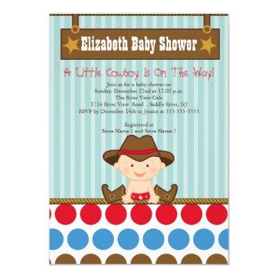 Cute Western Cowboy Baby Shower Invitation | Zazzle.com