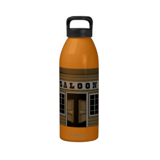 Cute Western Saloon Reusable Water Bottle