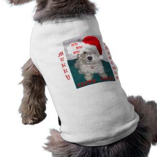 Cute Westie as Santa Paws Shirt