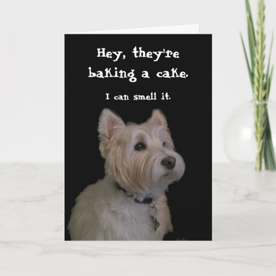 Cute Westie Birthday Card Zazzle