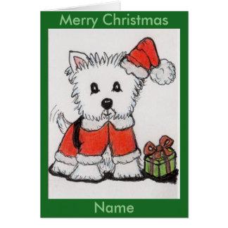 CUTE WESTIE CHRISTMAS CARD mum daughter son nana