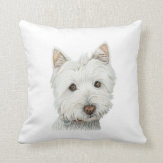 Cute Westie Dog American MoJo Pillow