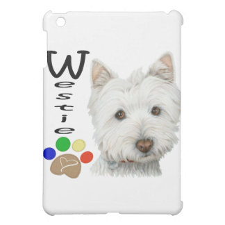 Cute Westie Dog and Paw Art Gifts iPad Mini Cases