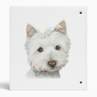 Cute Westie Dog Avery Binder