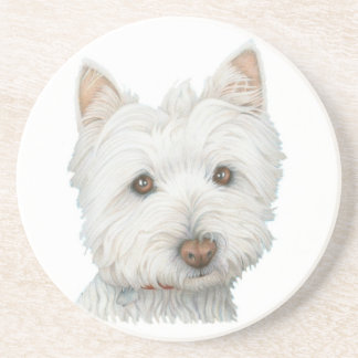 Cute Westie Dog Coaster