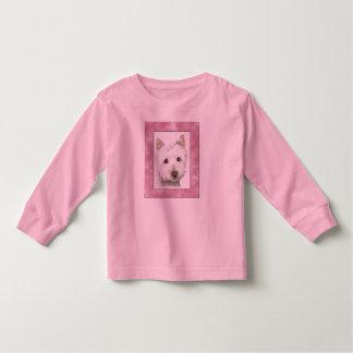 Cute Westie Dog in Pink Frame Art Shirt