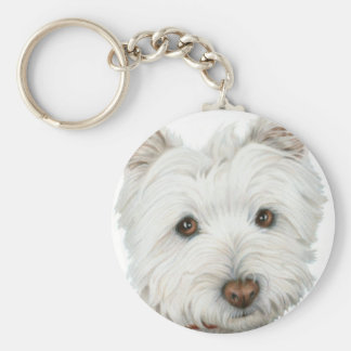 Cute Westie Dog Keychain