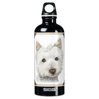 Cute Westie Dog Liberty Bottle