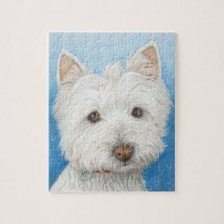 Cute Westie Dog Puzzle