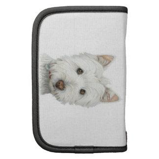 Cute Westie Dog Rickshaw Folio Planner