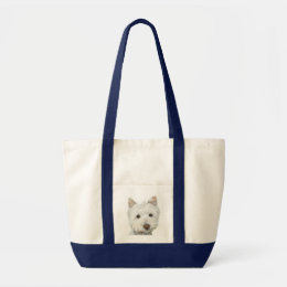 Cute Westie Dog Tote Bag